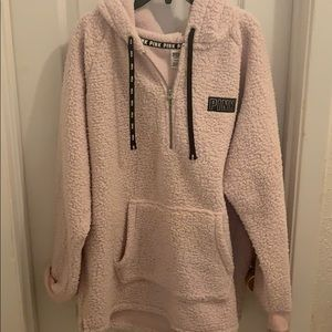 Pink fluffy pullover
